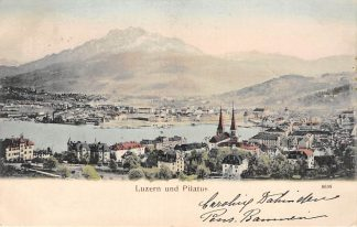Ansichtkaart Zwitserland Luzern und Pilatus 1903 Schweiz Suisse Switzerland Europa HC20467