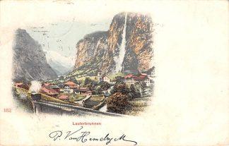 Ansichtkaart Zwitserland Lauterbrunnen Zug Bahn Spoorwegen 1903 Schweiz Suisse Switzerland Europa HC20468