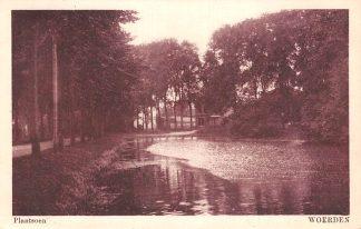 Ansichtkaart Woerden Plantsoen 1928 HC20495