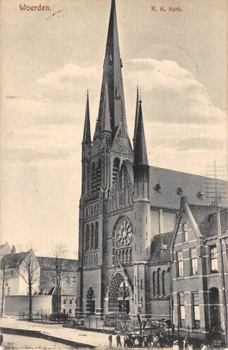 Ansichtkaart Woerden R.K. Kerk 1928 HC20504
