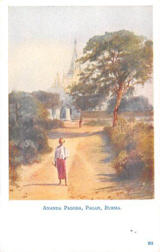Ansichtkaart Birma Ananda Pagoda Pagan Myanmar Azië HC20506