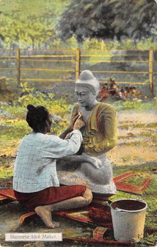 Ansichtkaart Birma Burmese Idol Maker Myanmar Azië HC20507
