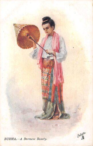 Ansichtkaart Birma A. Burmese Beaty Myanmar Azië HC20509