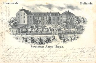 Ansichtkaart Roermond Ruremonde Pensionnat Sainte Ursuline Rue Voogdij 1900 HC20516