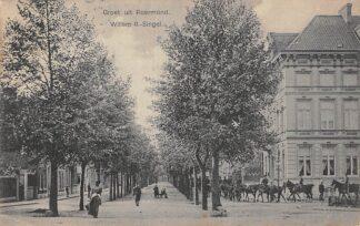 Ansichtkaart Roermond Willem II-Singel Soldaten te paard Militair 1912 HC20519