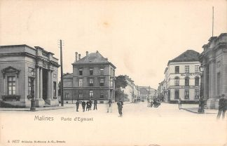 Ansichtkaart België Mechelen Malines Porte d'Egmont 1910 Europa  HC20536