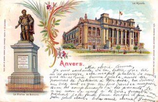 Ansichtkaart België Antwerpen Anvers La Statue de Rubens Le Musee 1901 Europa HC20557