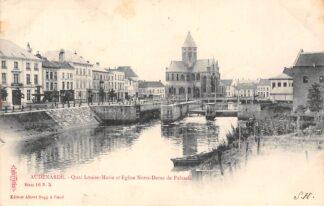 Ansichtkaart België Oudenaarde Audenarde Quai Louise -Marie et Eglise Notre-Dame de Palmele Sluis 1901 Europa  HC20558
