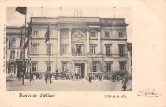 Ansichtkaart België Aalst Souvenir d' Alost L'Hotel de Ville 1901 Europa HC20559