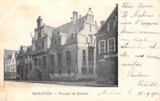 Ansichtkaart België Mechelen Malines Palais de Justice 1902 Europa HC20568