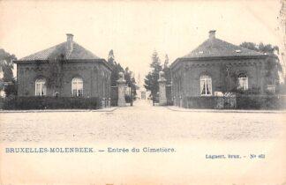 Ansichtkaart België Bruxelles Molenbeek Entree du Cimetiere Ingang van de begraafplaats Europa HC20571