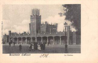 Ansichtkaart België Aalst Souvenir d' Alost Le Station Spoorwegen 1901 Europa HC20579
