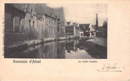 Ansichtkaart België Aalst Souvenir d' Alost La vieille Dendre 1901 Europa HC20580