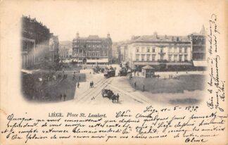 Ansichtkaart België Luik Liège Place St. Lambert met paardentram tram HC20581