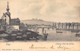Ansichtkaart België Luik Liège L'Ancien Pont des Arches Europa HC20595