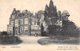 Ansichtkaart België Luik Liège L'observatoire De kaart tegen het Licht te houden 1912 Europa HC20596