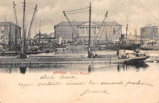 Ansichtkaart België Antwerpen Anvers Vieux Bassin 1901 Binnenvaart schepen Scheepvaart Europa HC20599