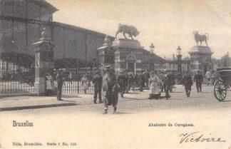 Ansichtkaart België Anderlecht Kuregem Abattoirs de Cureghem Brussel Bruxelles 1902 Europa HC20629