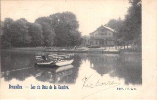 Ansichtkaart België Brussel Bruxelles Lac du Bois de la Cambre Veerpont Veer 1902 Europa HC20639