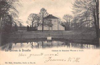 Ansichtkaart België Chateau de Monsieur Woeste a Uccle Les Environs de Bruxelles Brussel 1901 Europa HC20645