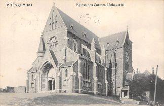 Ansichtkaart België Chevremont Eglise des Carmes dechausses 1914 Europa HC20646