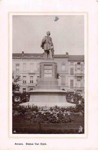 Ansichtkaart België Antwerpen Anvers Statue Van Dijk 1911 Europa HC20662