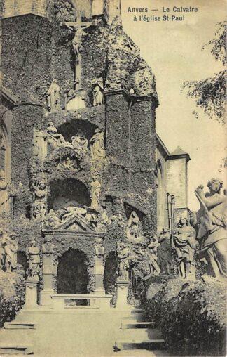 Ansichtkaart België Antwerpen Anvers La Calvaire a l'eglise St. Paul 1908 Europa HC20667