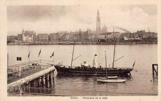 Ansichtkaart België Antwerpen Anvers Panorama de la rade Scheepvaart Schepen 1911 Europa HC20668