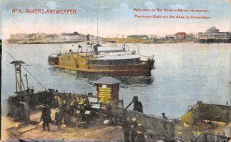 Ansichtkaart België Antwerpen Anvers Panorama Zicht van Ste Anna en Overzetboot 1912 Scheepvaart Veer Binnenvaart schepen Europa  HC20669