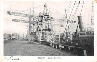 Ansichtkaart België Antwerpen Anvers Bassin America met zee schepen Scheepvaart 1910 Europa HC20672