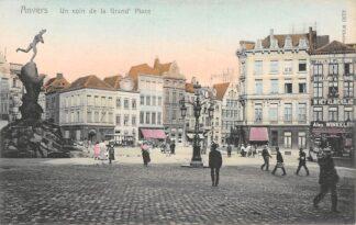 Ansichtkaart België Antwerpen Anvers Un coin de la Grand' Place 1908 Europa HC20674