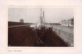 Ansichtkaart België Antwerpen Anvers Cale Seche Schip in dok 1911 Scheepvaart Schepen Europa HC20678