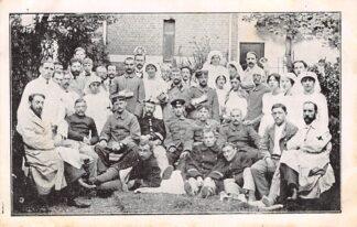 Ansichtkaart België Brussel WO1 1914-1918 Personeel Hollandsche Ambulance Plantijnstraat 35 Brussel Europa HC20681