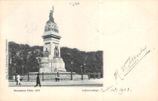 Ansichtkaart 's-Gravenhage Monument Plein 1813 in 1903 HC20695