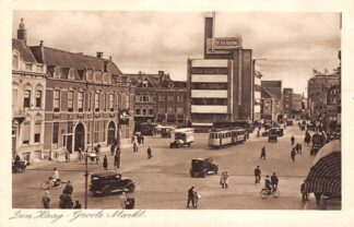 Ansichtkaart Den Haag Grote Markt Auto HTM Tram 1933 HC20701