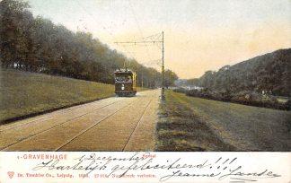 Ansichtkaart 's-Gravenhage Kanaal 1904 HTM Tram 3 Lijn 9 HC20710