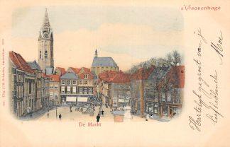 Ansichtkaart 's-Gravenhage De Markt 1900 HC20711
