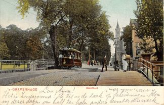 Ansichtkaart 's-Gravenhage Boschkant 1905 HTM Tram 4 Lijn 9 HC20712