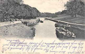 Ansichtkaart 's-Gravenhage Kanaal met binnenvaart schepen 1903 HC20716