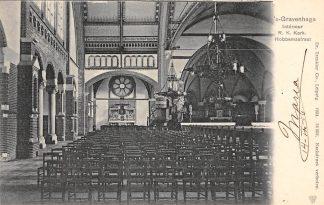 Ansichtkaart 's-Gravenhage Hobbemastraat Interieur R.K. Kerk 1904 HC20718
