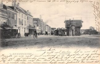 Ansichtkaart 's-Gravenhage Huygensplein 1903 HTM Tram HC20722