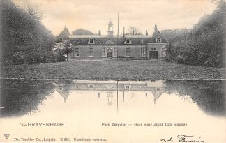 Ansichtkaart 's-Gravenhage Park Zorgvliet - Huis waar Jacob Cats woonde 1903 HC20737