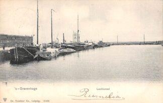 Ansichtkaart 's-Gravenhage Laakkanaal 1902 Binnenvaart schepen Scheepvaart HC20738