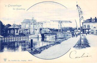 Ansichtkaart 's-Gravenhage De Geestbrug 1900 HC20739
