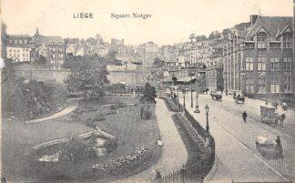 Ansichtkaart België Luik Liège Square Notger Hondenkar 1913 Europa HC20756