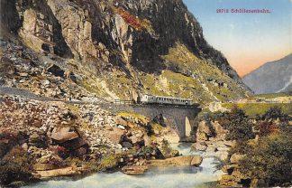 Ansichtkaart Zwitserland Schollenenbahn Trein Spoorwegen Schweiz Suisse Switzerland Europa HC20817