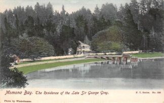 Ansichtkaart New-Zealand Momona Bay The Residence of the Late Sir George Gray Australië HC20829