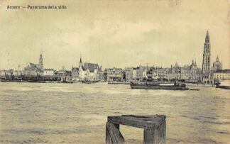 Ansichtkaart België Antwerpen Anvers Panorama de ville 1908 Schepen Scheepvaart Europa  HC20839
