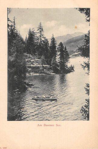 Ansichtkaart Zwitserland Davos Am Davoser See 1900 Schweiz Suisse Switzerland Europa HC20842