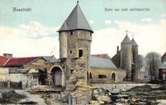 Ansichtkaart Maastricht Ruïne van oude vestingwerken 1908 HC20874